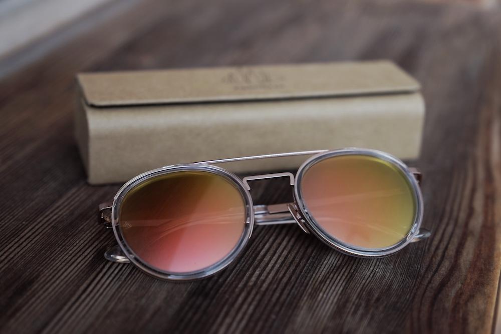 Einstoffen-Sonnenbrille-Alpinist-Hülle