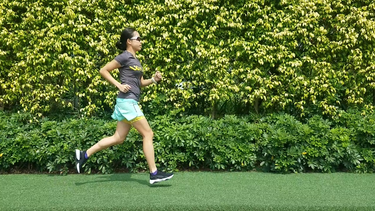 MEGAN in HK training with PUMA sunglasses and shoes