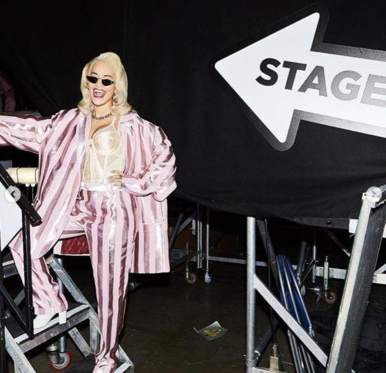 Rita Ora wearing Komono 2
