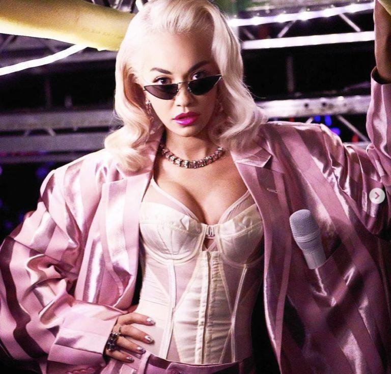 Rita Ora wearing Komono 3