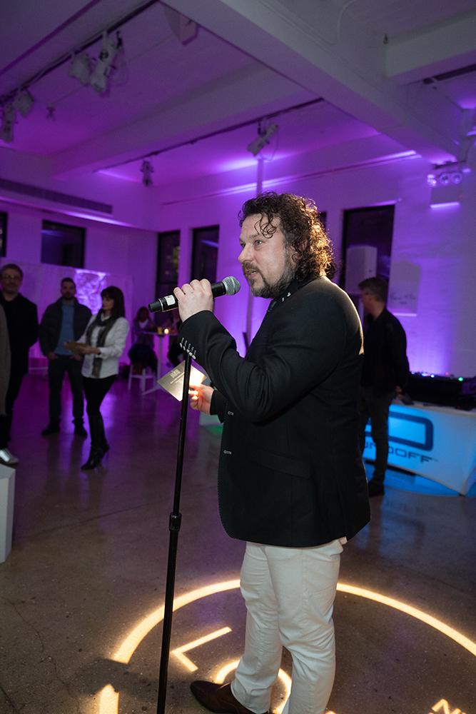 Award organizer and TEF Magazine founder Maarten Weidema making the introduction speech