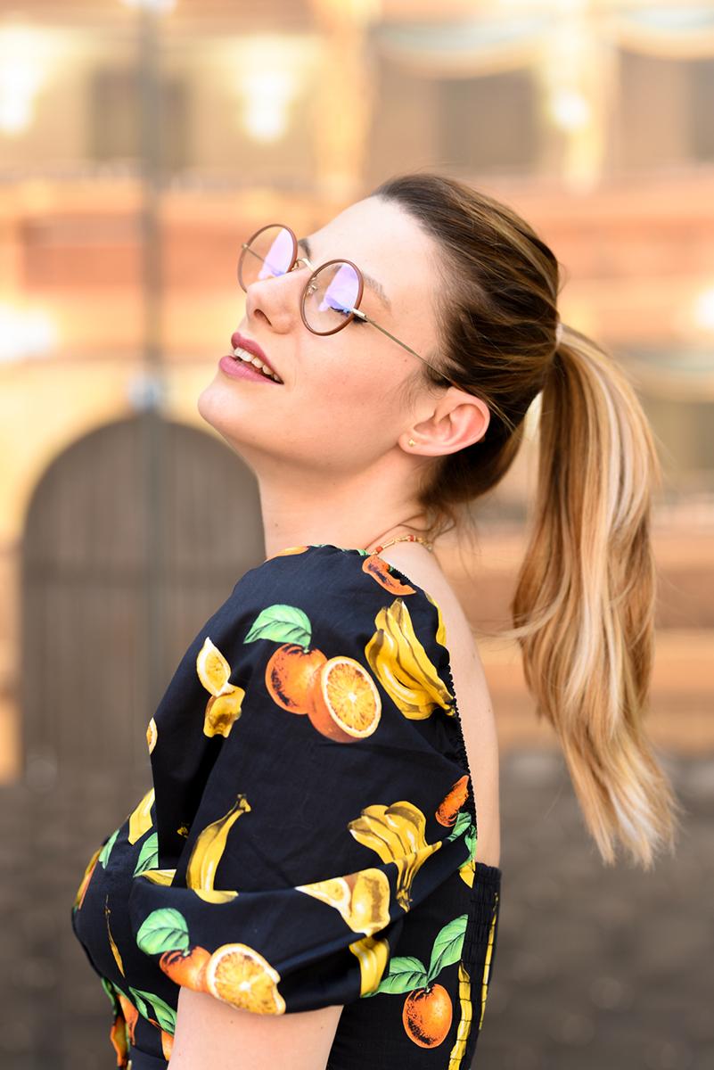 giulia de martin Savile Row sunglasses occhiali da sole frame eyewear pink spring summer 2019 eyewear blog influencer -7