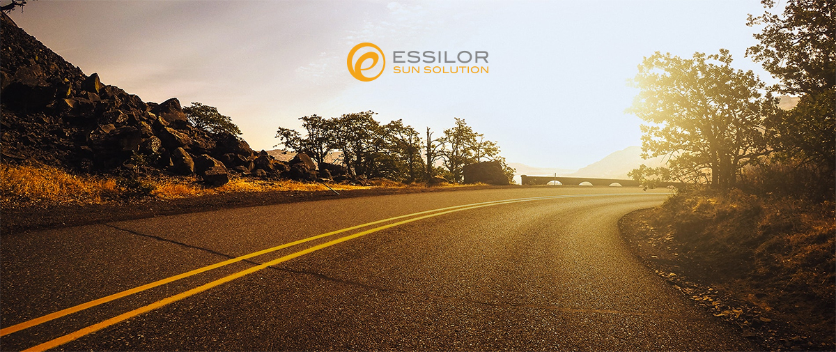 Sunlenses on the road // be safe with Essilor Sun Solution and FIA