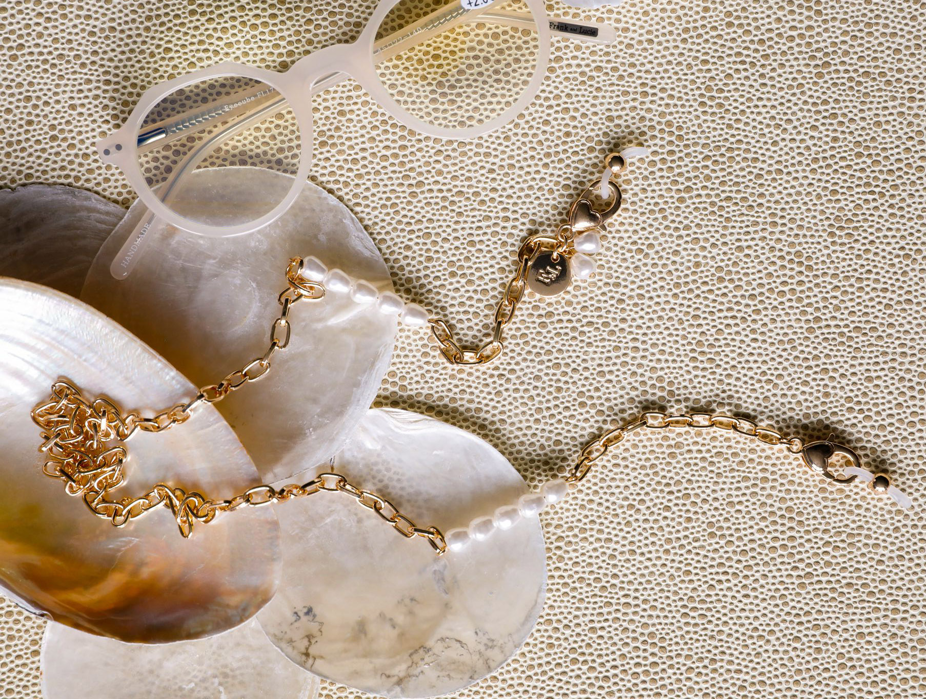 frank and lucie ss 2021 summer bliss eyewear chain soleil blanc eyecube white sand